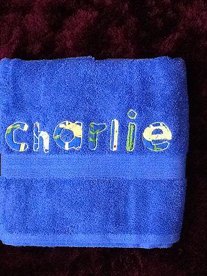 Luxury Bright Blue Bath Towel Sarah Jane Designs